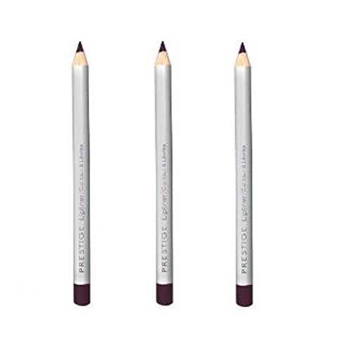 Lot of 3 pcs Prestige Classic Lip Liner 04 oz (50 Bordeaux) - 0.04 Ounce Lip Pencil