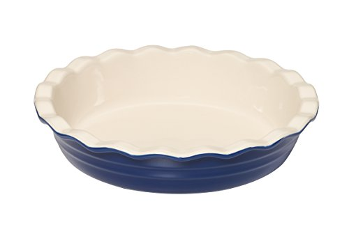 Deep Dish Pie Pan (Baker's Advantage Ceramic Deep Pie Dish, 9-1/2-Inch, Blue )