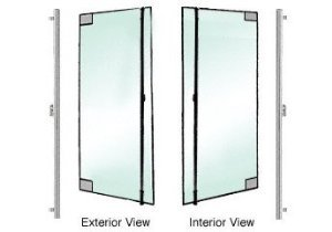CRL/Blumcraft Brushed Stainless Left Hand Reverse 1301 Door With Walking Beam Pivot