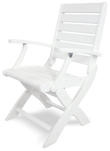 POLYWOOD 1900-WH Signature Folding Chair, White
