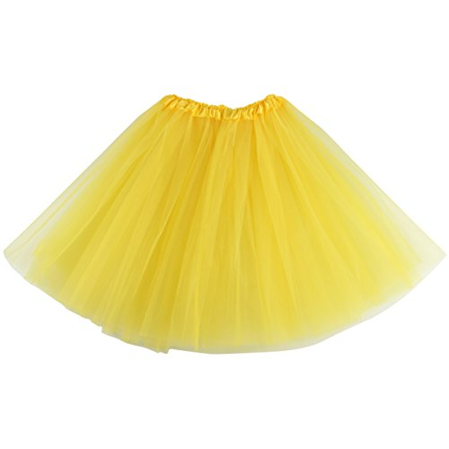 Lanzom Women's Classic Elastic 3-Layered Tulle Tutu Skirt Ballet Party Costume -