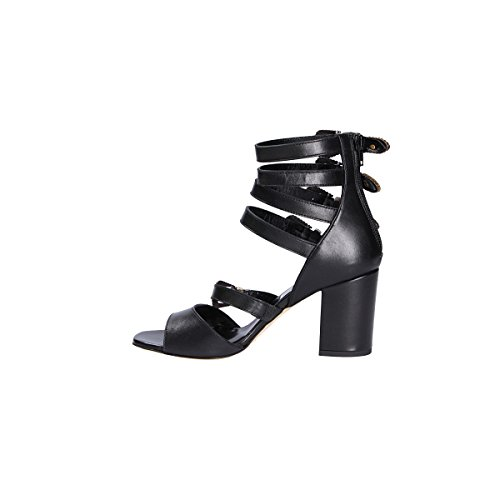 Giampaolo Viozzi Vrouwen Ep880 Zwart Lederen Sandalen