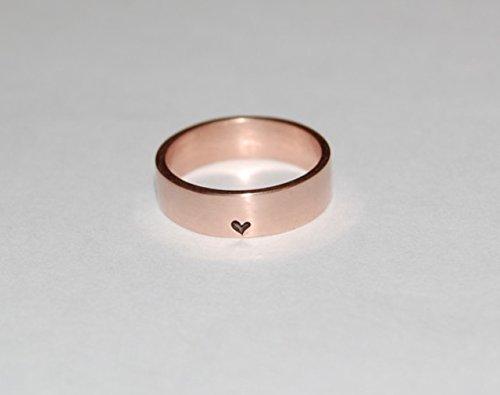 Little Bit of Heart Ring 14kt Rose Gold Heart Wedding band