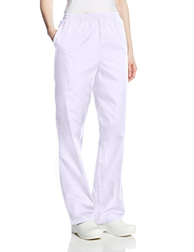 Cherokee Women's Workwear Scrubs Pull-On Pant (SIZE 2X-5X), White, 3X-Large -