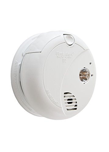 First Alert BRK 7020B Hardwire Photoelectric Sensor Smoke Alarm with Battery Backup and Escape Light