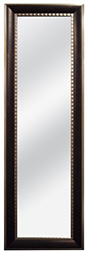 MCS 12x48 Inch Over The Door Two Toned Mirror, 18x54 Inch Overall -