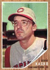 1962 Topps Regular (Baseball) Card# 193 Eddie Kasko of the Cincinnati Reds Ex Condition ()