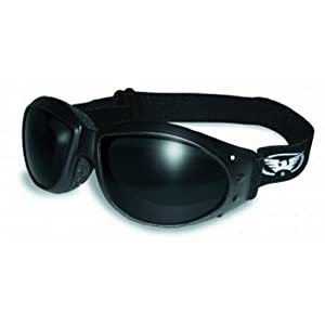 Global Vision Eyewear Eliminator Goggles with Micro-Fiber Pouch, Super Dark Lens