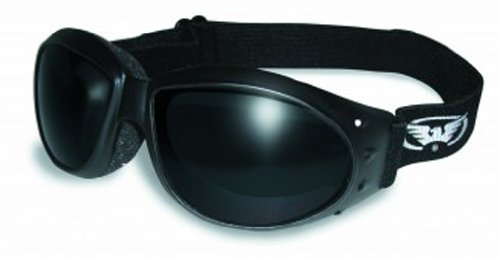 Global Vision Eyewear Eliminator Goggles with Micro-Fiber Pouch, Super Dark - Super For Dark Sunglasses Men