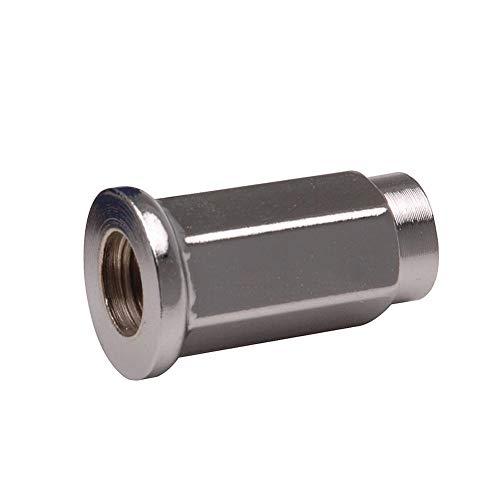 - ITP Flat Base Chrome Lug Nut 10mm x 1.25mm Thread Pitch w/14mm Head - Fits: Honda TRX 400EX 1999-2008 (4 Pack)