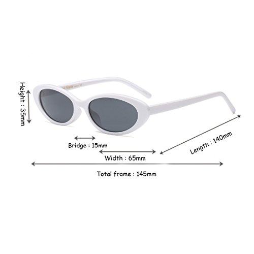 sol Blanco vendimia ovales los de Gafas la hombres pequeñas de mujeres de de Inlefen marcos Gris de hombres los gafas los las de qBzwEp