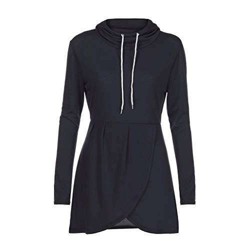 URIBAKE Womens Long Sleeve Hooded Asymmetric Hem Wrap Hoodie Sweatshirt Outwear ()