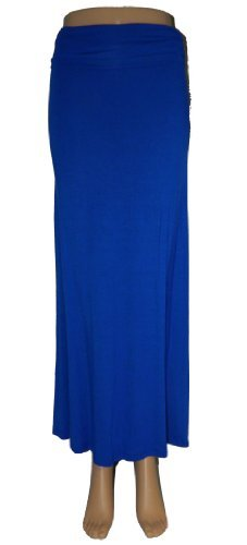 - Azules Women's Rayon Span Maxi Skirt,X-Large,Royal