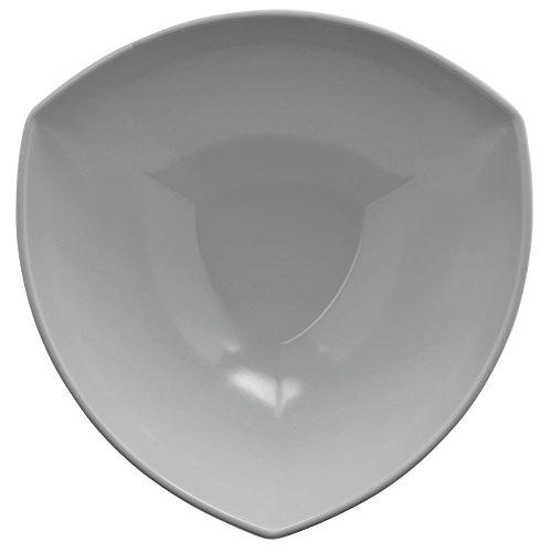 Elite Unique Shapes Collection 104 oz White Melamine Deep Triangle Bowl - 10