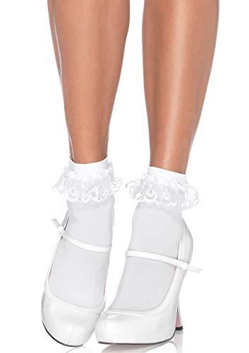 Leg Avenue Women's Lace Ruffle Nylon Anklet