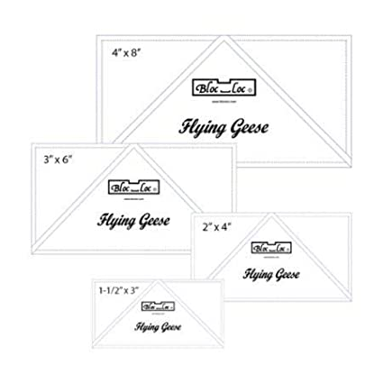 Bloc Loc Flying Geese Ruler Set 1~1.5x3,2x4,3x6,4x8