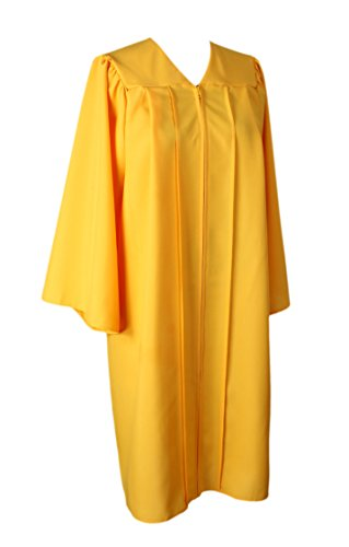 GraduationService Unisex College Graduation Gown Only Choir Robe Matte Finish by GraduationService