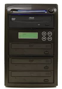Produplicator 3 Burner 52X CD Duplicator Machine (Standalone Audio Video Copy Tower, Disc Duplication Device)