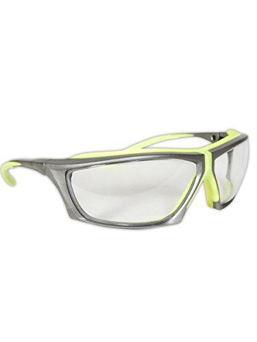 Magid Safety Y770HVAFC Gemstone Zircon Plus Hi-Viz Safety Glasses, Standard, Gray Frame/Clear Lens (One (Grey Tint Safety Glasses)