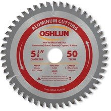 Oshlun SBNF-054050 5-3/8-Inch 50 Tooth TCG Saw Blade with 20mm Arbor (5/8-Inch and 10mm Bushings) for Aluminum and Non Ferrous Metals Model: SBNF-054050 Tools & Home Improvement