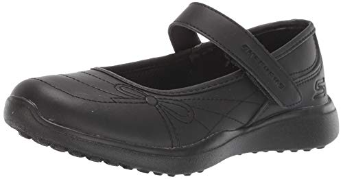 Skechers Kids Girl's MICROSTRIDES-School Sweethear Shoe, Black/Black, 3 Medium US Little Kid (Skechers Memory Foam Shoes Girls)