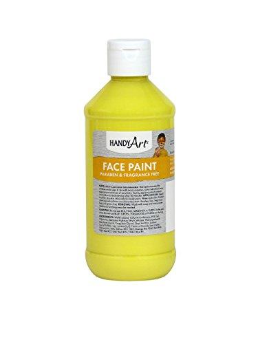 Handy Art Face Paint, Yellow, 8-Ounce