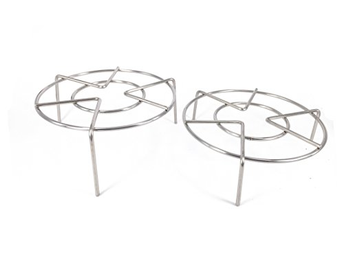 Set of 2 Heavy Duty Round Stainless Steel Steamer Rack Stand