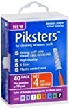 PIKSTERS - for cleaning between teeth-Size 4 (RED)- 40Pk by PIKSTERS