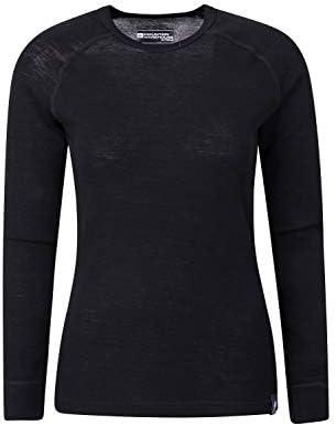 Mountain Warehouse Top térmico Interior de Lana Merina para Mujer - Camiseta Ligera para Mujer, Transpirable, Antibacteriana Negro 32: Amazon.es: Deportes y aire libre
