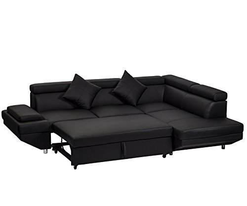 Corner Sofas Sets For Living Room, Leather Sectional corner Sofa with Functional Armrest and support Living Room Set Chaise