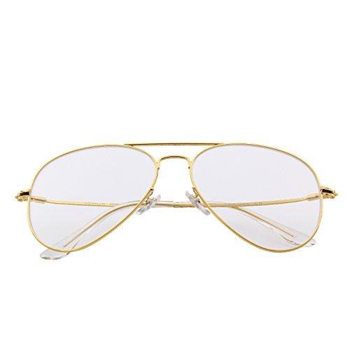 MERRYS Fashion Women Titanium Glasses Frames Men Brand Gold Shield Eyeglasses S8205 Gold