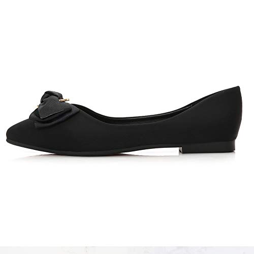 Pictures of Meeshine Womens Bow Pointed Toe Ballet Flats 6