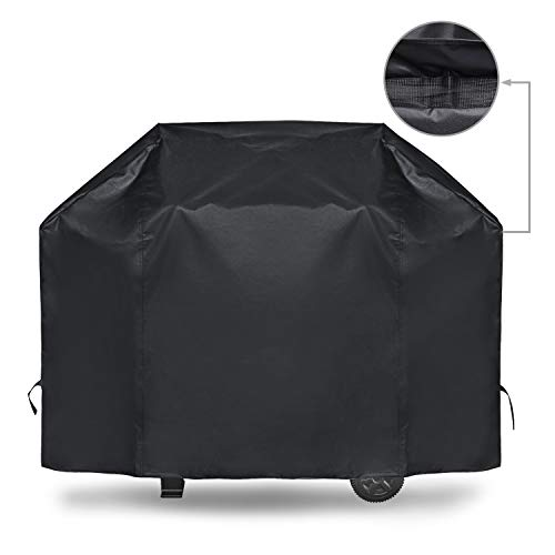 iCOVER Gas Grill Cover 55 Inch Heavy Duty Waterproof Barbecue Grill Covers UV Fade Resistant Mesh Air Vent Fits Weber Char-Broil Nexgrill and More