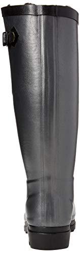 Metallic Aiglentine Noir Silber Damen Gummistiefel Aigle Fur qPURdwP7Xn