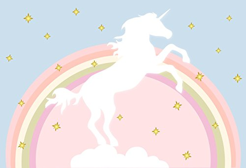 Yeele Unicorn Backdrops 7x5ft Clouds Star Birthday Party
