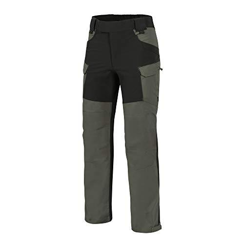 (Helikon-Tex Outback Line, HOP Hybrid Outback Pants, DuraCanvas VersaStretch Taiga Green/Black Waist 34 Length 34)