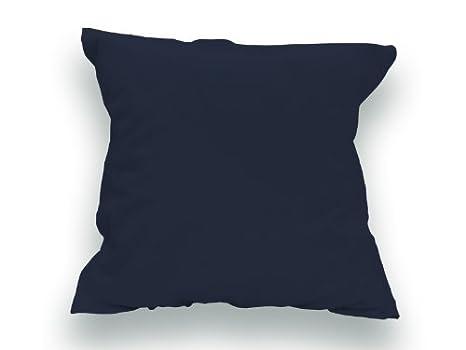 Funda de Almohada Lisa de algodón 65x65 cm Azul Marino ...
