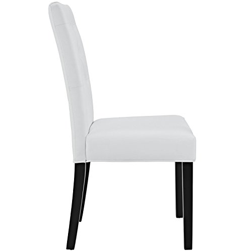 Modway Confer Dining Vinyl Side Chair White Renovation