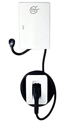 EVoCharge EVSE 30 Amp (7.2 kW) Level 2 EV Charger, Outdoor Rated, UL Safety Certified, 18 Ft. Cable with Connector Holster, 2yr Warranty, Charges up to 8X Faster Than a Standard AC Level 1 EVSE