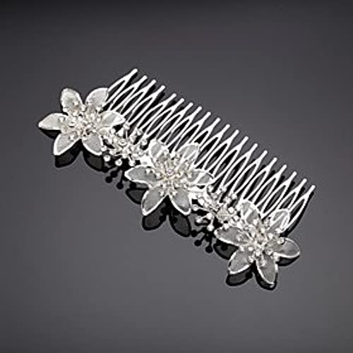 FLOW ZIG Alloy/Rhinestone Hair Combs Wedding/Party 1pc