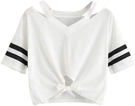 WZCV Camisa de verano para mujer Chaleco para damas Moda para niñas Tops sólidos, Blusa de cuello redondo de manga corta informal para baile/club/fiesta/diario (S, blanco) / Blanco/X: Amazon.es: Bricolaje y herramientas