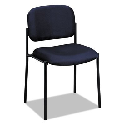 (VL606 Series Stacking Armless Guest Chair, Navy Fabric, Sold as 2 Each)