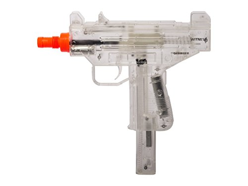Crosman Sector 11 S1WITPSC Witness Single Shot Spring Power Airsoft Pistol with Fixed Sights, Clear