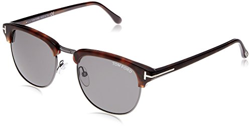 (Tom Ford Henry FT0248 Sunglasses-52A Light Ruthenium/Havana (Gray Lens)-51mm)