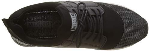 schwarz Negro Zapatillas 9 Schnürhalbschuh Mujer Para Mustang xR7pfq
