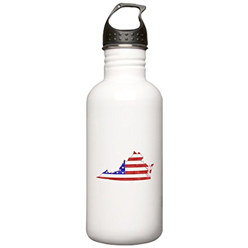 CafePress - Virginia Flag Stainless Water Bottle 1.0L - Stainless Steel Water Bottle, 1.0L Sports Bottle