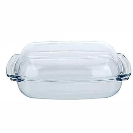 Molde para horno fuente para horno de barro con tapa bandeja 4,1 liter (