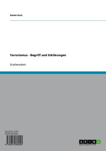Terrorismus - Begriff und Erklärungen (German Edition)
