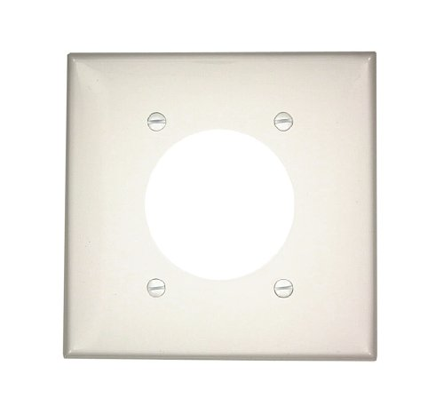 Leviton Flush Mount Wall Plate (Leviton 80726-W 2-Gang Flush Mount 2.15-Inch Diameter, Device Receptacle Wallplate, White)