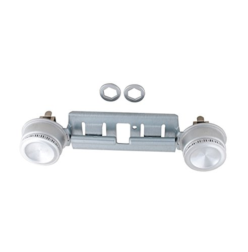 WB16K10026 WB29K17 Double Burner Kit for GE Hotpoint Gas Stove General Electric Range Assembly Replacement by - Burners Hotpoint Stove